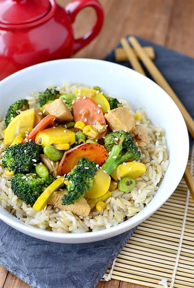 Ah, stir-fry — it's such a great way to cram lots of veggies and lean protein into a weeknight dinner. But it's also easy to get into a stir-fry rut, making the same thing over and over — or resorting to greasy take-out versions. If you're looking to cook more healthful meals at home, we have five fresh suggestions for each kind of protein lover. No wok? No worries. Simply use a large skillet or saute pan.