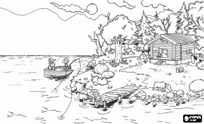 landscape coloring pages for adults water landscapes coloring pages coloring pages of water. Black Bedroom Furniture Sets. Home Design Ideas