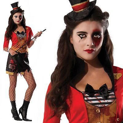 #Ladies #circus hell #ringmaster lion tamer dead halloween fancy dress costume,  View more on the LINK: http://www.zeppy.io/product/gb/2/331989988502/