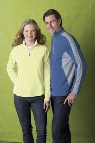 Promotional Products Ideas That Work: LADIES' RECYCLED POLYESTER HALF-ZIP FLEECE TOP. Get yours at www.luscangroup.com