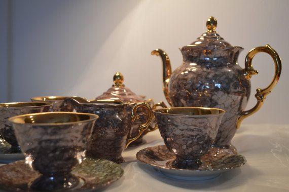Vintage Porcelain Tea or Coffee set by KrisztinaVintage on Etsy