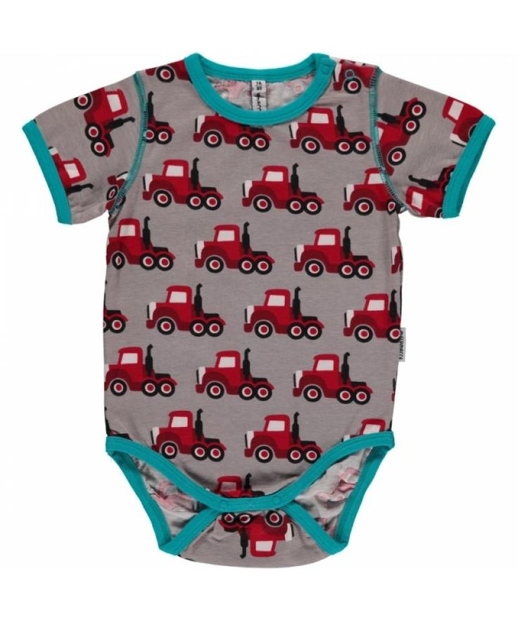 Truck Short Sleeve Onesie from Maxomorra. Available at Modern Rascals.