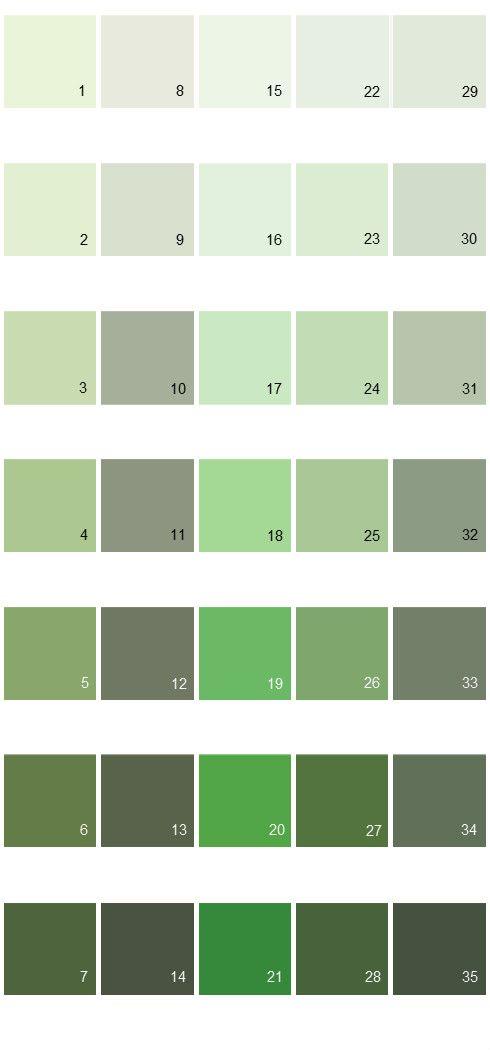 Behr Paint Colors   Colorsmart Palette 21