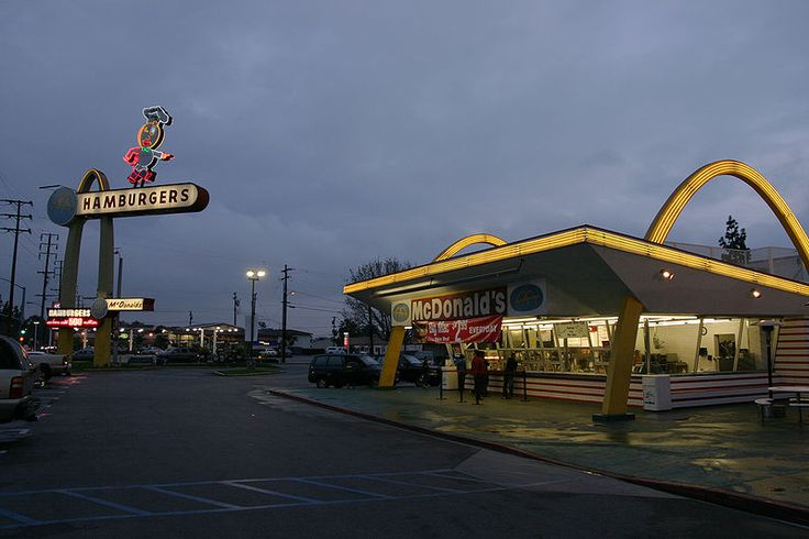 The oldest operating McDonald's to date. Located on Lakewood and Florence in Downey, California, was the chain's third restaurant and the second to be built with the Golden Arches.