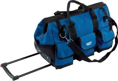 Draper 40754 Wheeled Folding Handled Heavy Duty Water Resistant Mobile Tool Bag | eBay