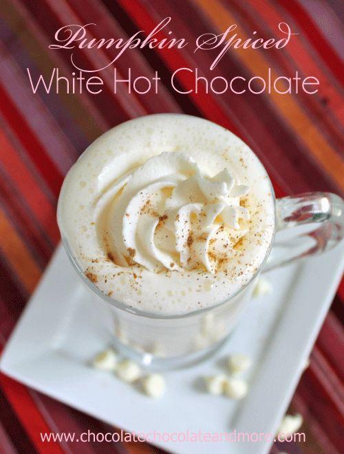 Pumpkin Pie Spiced White Hot Chocolate   Recipe   Hot ...