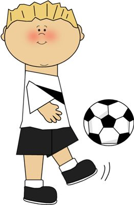 Boy Playing Soccer Clip Art - Boy Playing Soccer Image