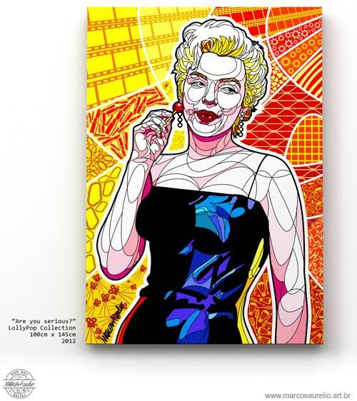 """Are you Serious?"" 2012 Marcos Aurelio PopArt Series"