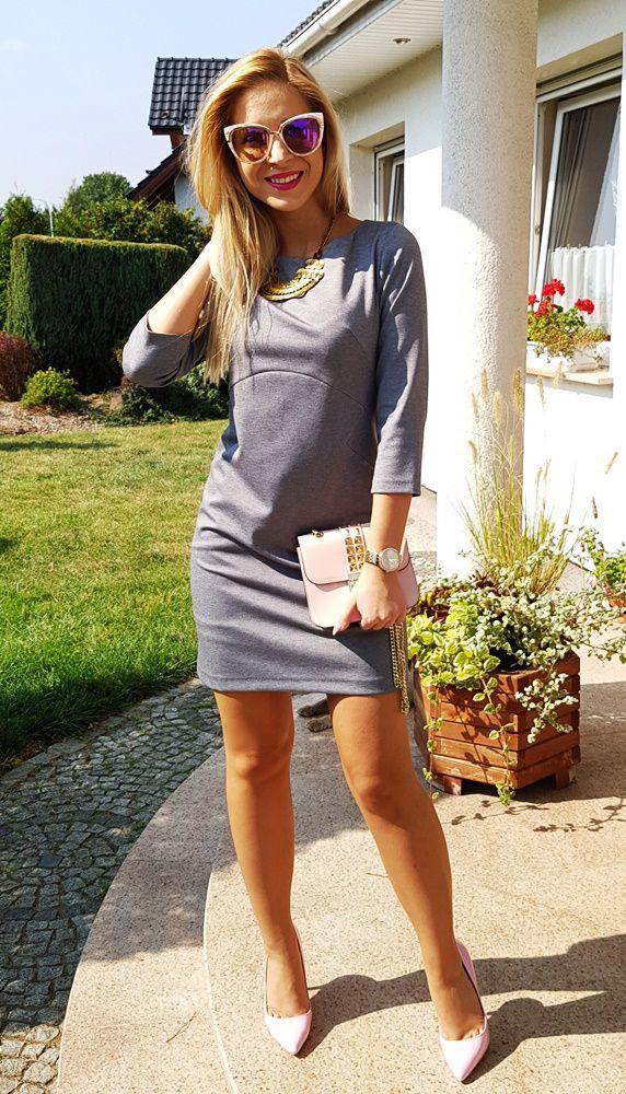 Elegancka dresowa sukienka. Wysokiej jakości materiał! 145 zł
