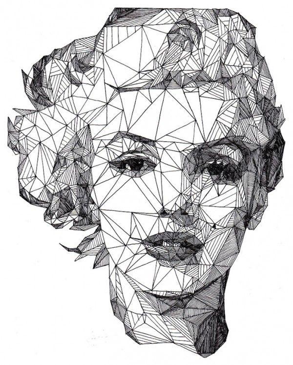 Triangulation: Angular Celebrities Drawn with a Pen