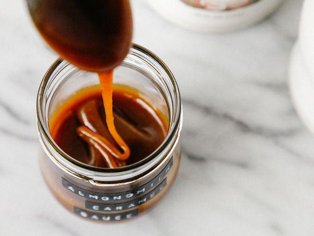 Almond milk caramel sauce