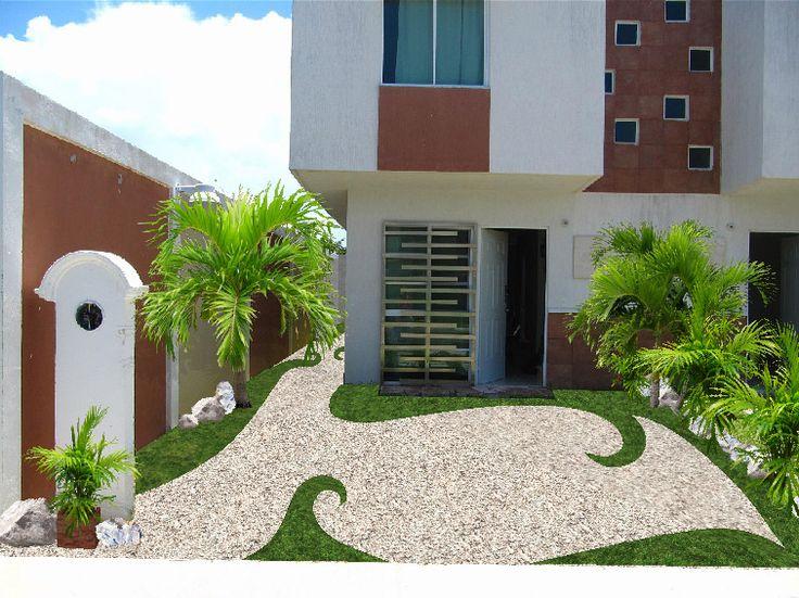 Diseño Jardín Minimalista Para Fachada Twirls