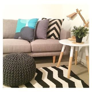 #regram from @myhomestyle89 featuring the Kmart charcoal ottoman, white dipped table and copper lamp! #kmartaddictsunite #kmartstyling #interior #interiordesign #interiorstyling #interiordecorating #style #styling #decor #design #chevron #copper #copperlove #coppertrend