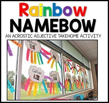 This Rainbow Name Poem Project is a great back to school project to display at open house or Meet the Teacher night.