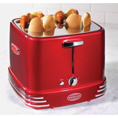 Coca-Cola 2-Slice Red Hot Dog Toaster Party Sausage Cooker FREE SHIPPING