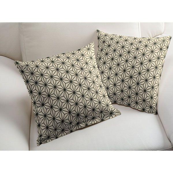 Tkanina dekoracyjna naturalna Geometryczna gwiazda - Fine Panamafavorable buying at our shop