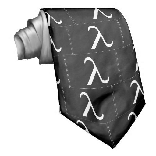 Lambda Symbol (black) Tie
