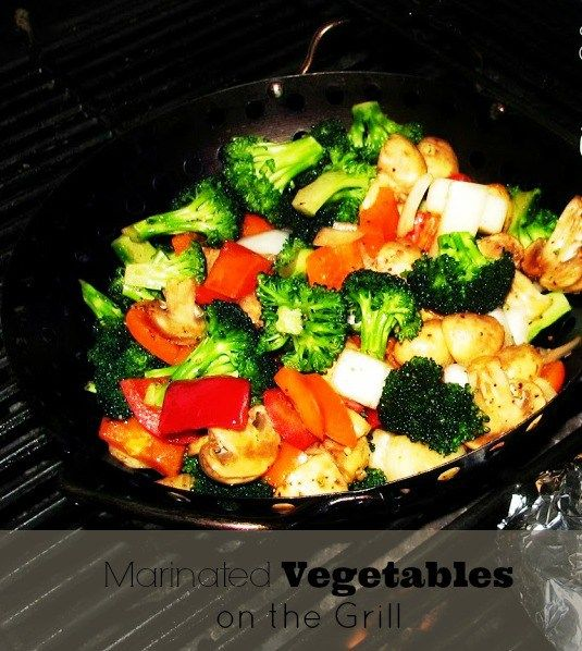 Do It All Working Mom - Marinated Vegetables on the grill