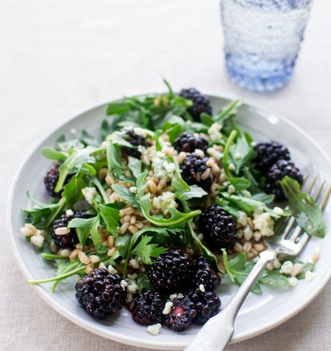 What's for lunch? Blackberry, Farro and Arugula Salad.