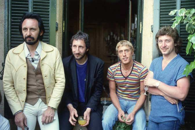 The Who John Entwistle, Pete Townshend, Roger Daltrey, Kenney Jones, Cannes 1979