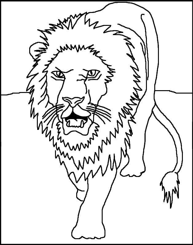 Lion - Free Coloring Pages for Kids - Printable Colouring Sheets