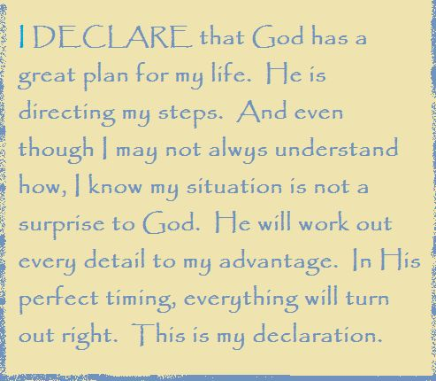 Day #7- I DECLARE that God has a great plan for my life... I DECLARE: 31 Promises to Speak Over Your Life by Joel Osteen