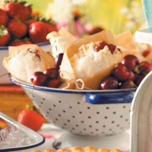 Cherry Turnovers Recipe -These cherry pie pockets are a welcome treat, especially when they're served warm from the oven.—Lori Daniels, Beverly, West Virginia
