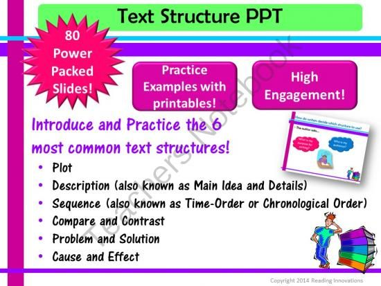 Best 25+ Text structure examples ideas on Pinterest Reading - example of chronological order