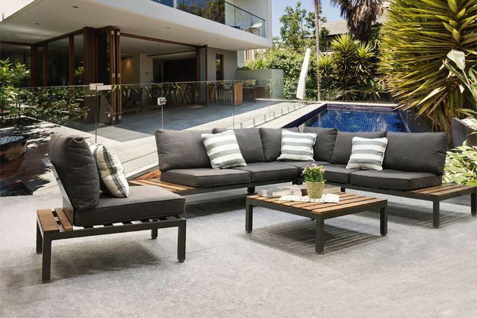 Salon De Jardin En Aluminium Bonny En 2020 Mobilier Jardin Section Exterieure Jolie Table Basse
