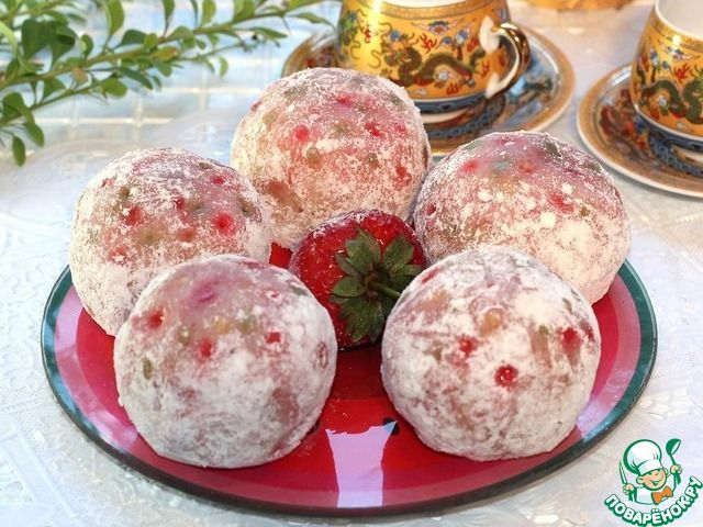 Японские сладости дайфуку с клубникой ингредиенты