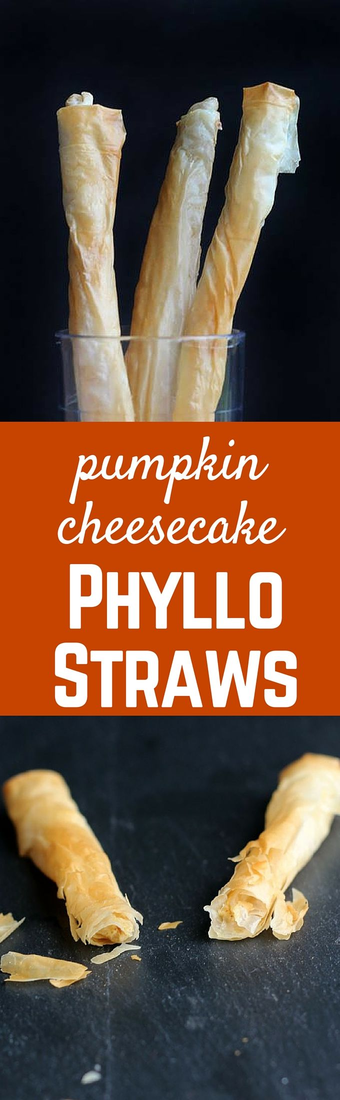 These Pumpkin Cheesecake Phyllo Straws are a great way to enjoy a decadent dessert without feeling weighed down. The flaky layers of phyllo dough turn this into a gourmet treat. Get the recipe on RachelCooks.com!