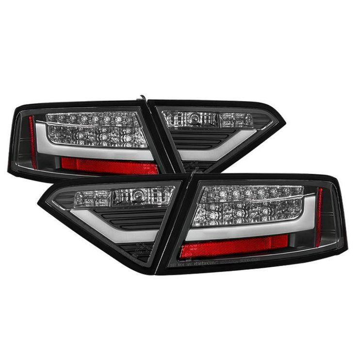 Spyder 2008-2012 Audi A5 LED Tail Lights - Black - Set of 2 (ALT-YD-AA508-LED-BK)
