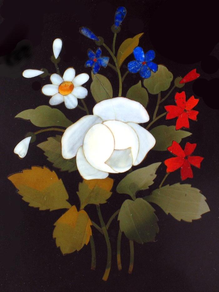 Antique Pietra Dura Micro Mosaic Plaque Italian Stone Inlay Marble Lapis Coral   eBay