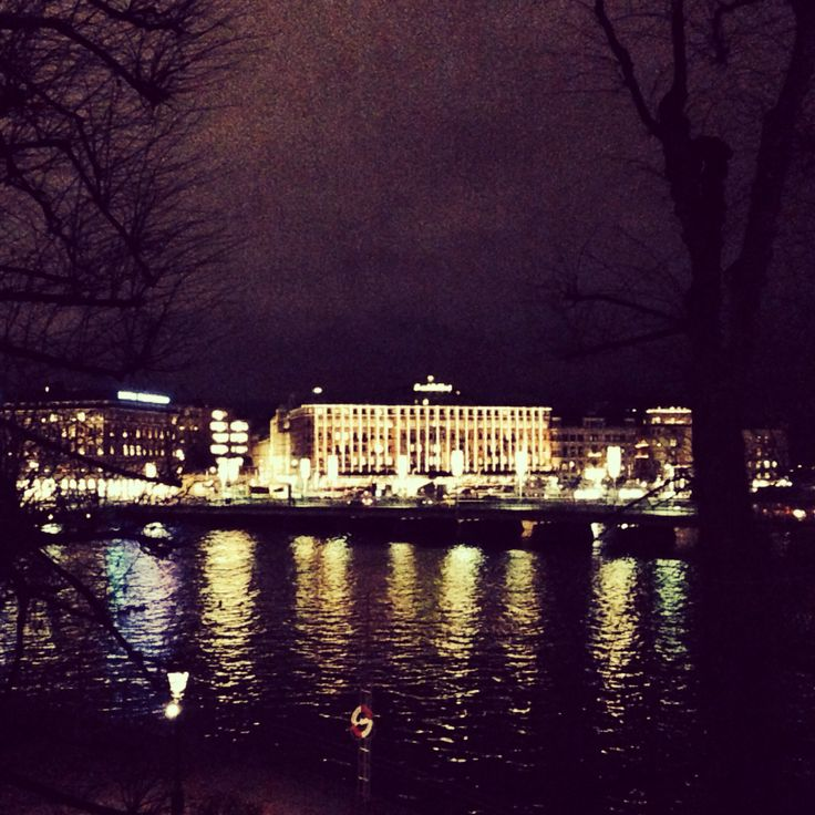 The Grand Hotel by night from bridge 'Norrbro' #stockholm #sightseeing #tourist #bucket #list # sweden #europe