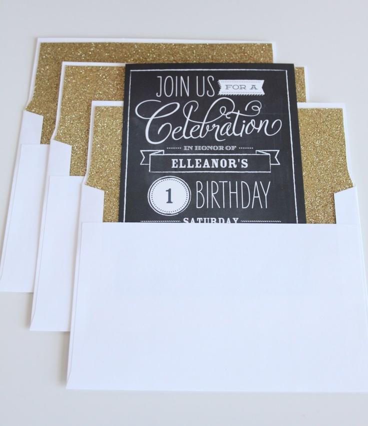 Make your own glitter lined envelopes u0026