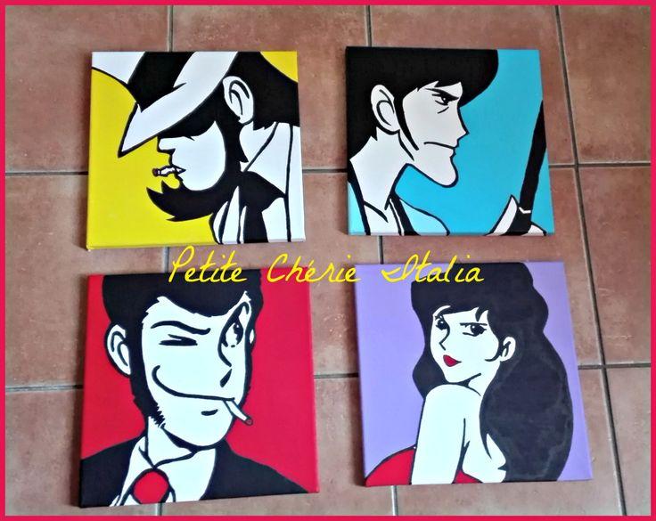 Quadri Pop Art #lupin #diy #colori