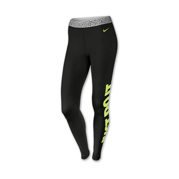 Women's Nike Pro Hyperwarm Mezzo Waistband Tights ($50) ❤ liked on Polyvore featuring activewear, activewear pants, leggings, nike activewear, nike activewear pants, nike, compression sportswear and nike sportswear