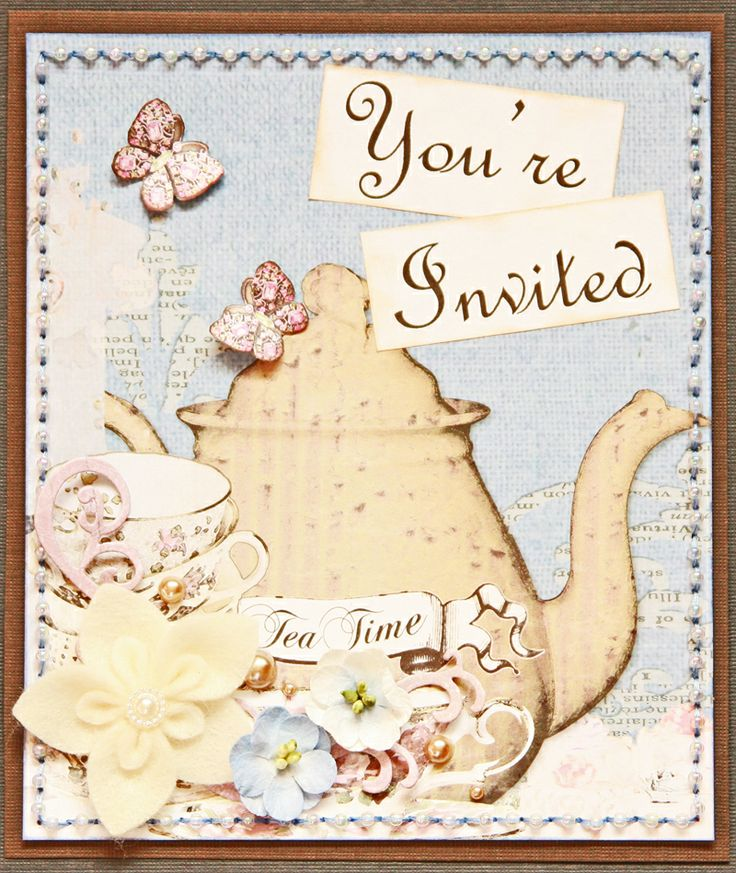 39 best Tea Party Scrapbooking images on Pinterest Tea parties