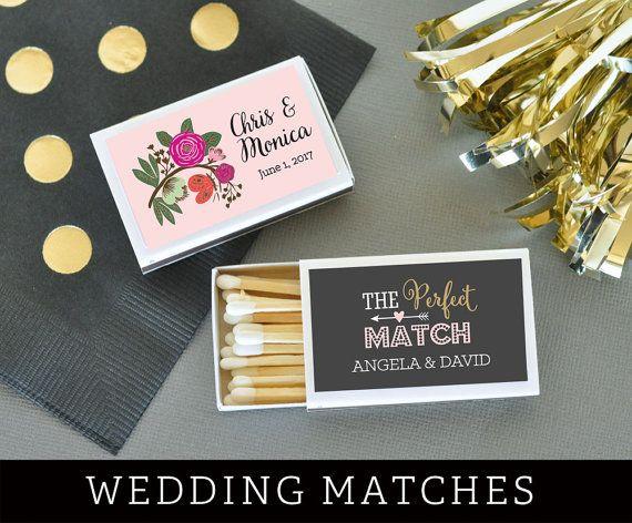 Wedding Matches Personalized Matches Match Box Wedding