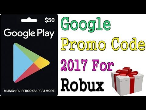 How to get free Google play promo code   Free Google play gift Card   Roblox how to get free robux