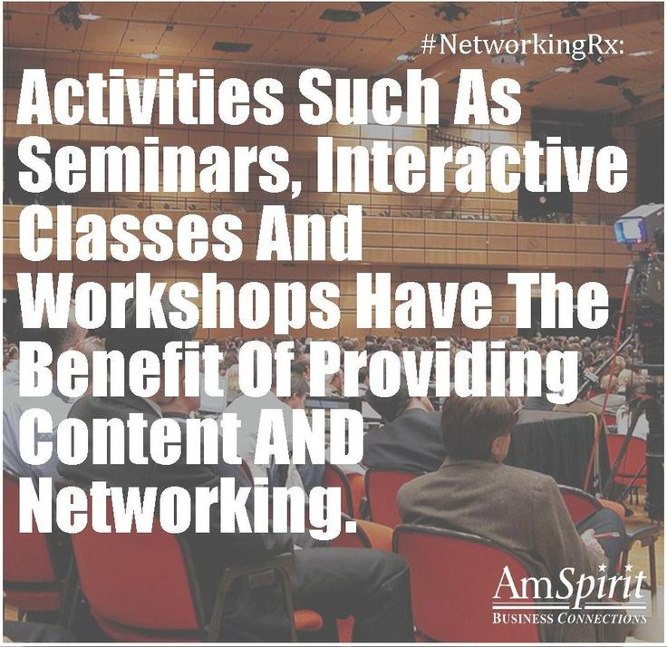 #NetworkingRx: What is the next class or workshop you are attending next?