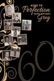Custom 60TH Birthday Photo Backdrop Banner Gold Black (ANY TEXT) 50th 40th 30th Anniversary, Graduation - C0124 - Backdrop Outlet
