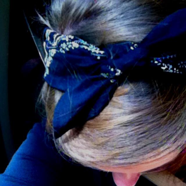 DIY bandana headband :)