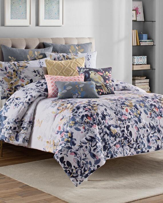3 Piece Watercolor Floral Comforter Set