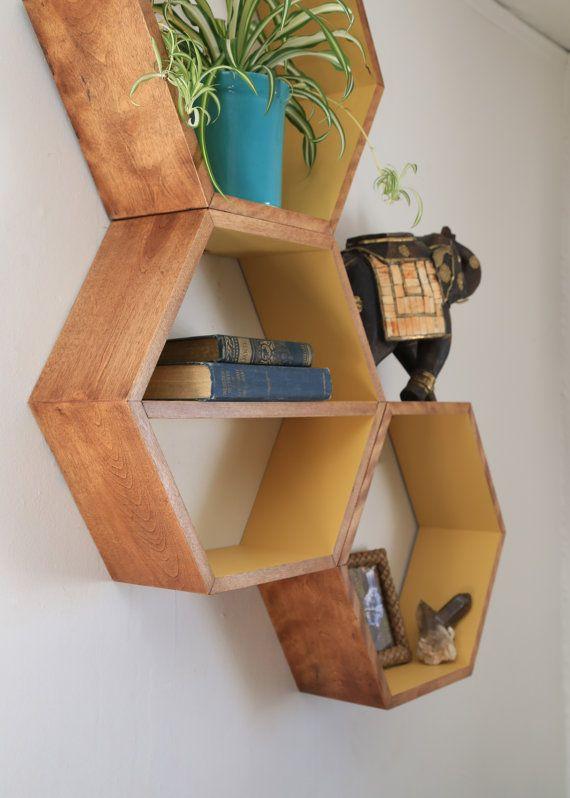Modern Furniture Geometric Shelf Modern Shelf by HaaseHandcraft