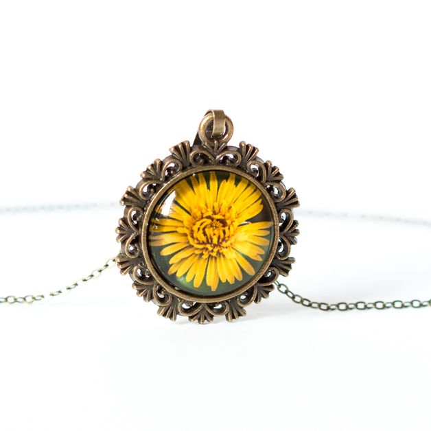 Charm Necklaces – Dandelion necklace – a unique product by Art-Of-Nature on DaWanda