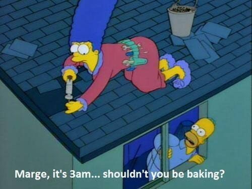 """Shouldn't you be baking?! When people have expectations for what you can and can't do:   18 Times """"The Simpsons"""" Totally Got What It's Like To Be A Woman"""