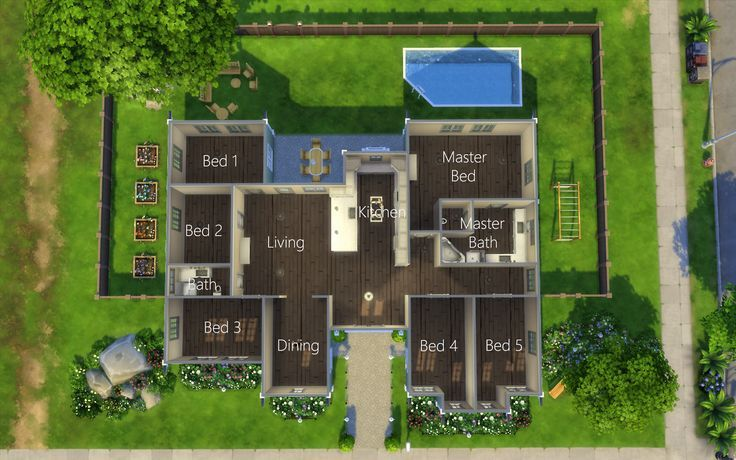 Sims 4 Homes Katherine Hall 40 X 30 Family Home 6 Bed 2 Bath In 2020 Sims 4 Houses Sims House Design Sims 4 Houses Layout