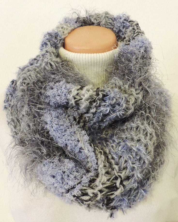 "Cowl, which you can wear around your neck. Thick and warm, many colors :-) Measurement: Scarflette length is ~ 23""x20"" (~ 60x52 cm.) Composition: - 10 % Wool, 20 % Acrylic, 35 % Micro Polyamide + 35 % Polyester - grey. Handmade with ♥ $11.72 USD"
