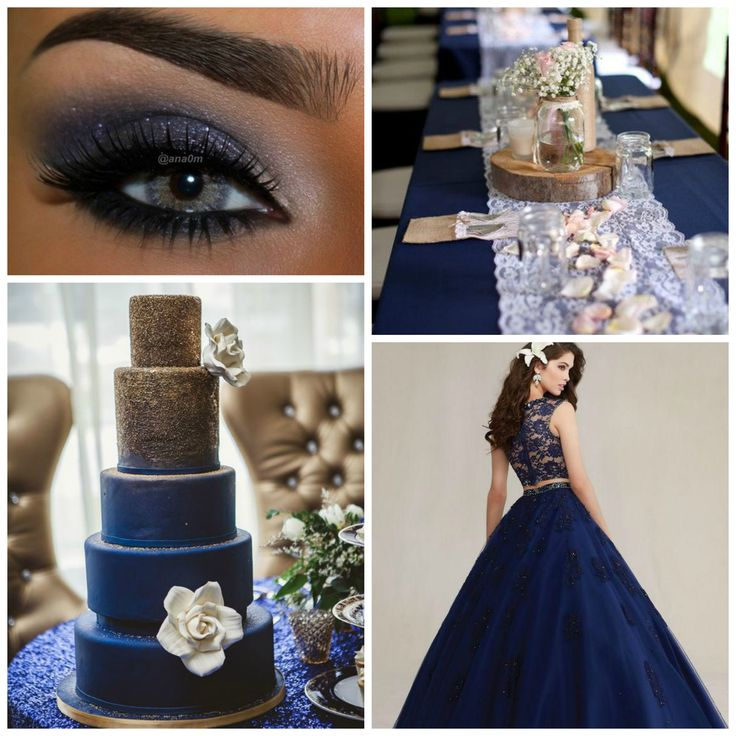 Blue and Gold Theme Colors | Quinceanera Ideas |